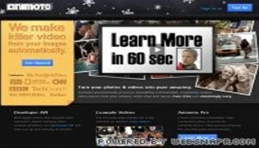Animoto.com lav professonelle videoer online
