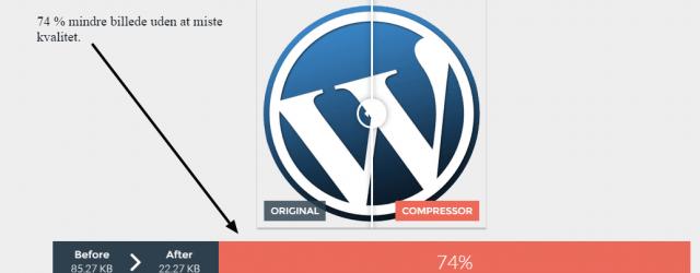Gode råd til optimering af dine billeder til wordpress. test lavet af wilhelmsen.tv